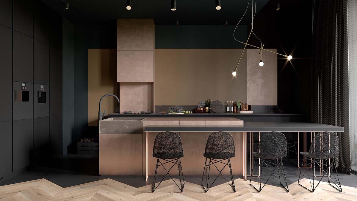 51款灰色调的家居餐厅设计