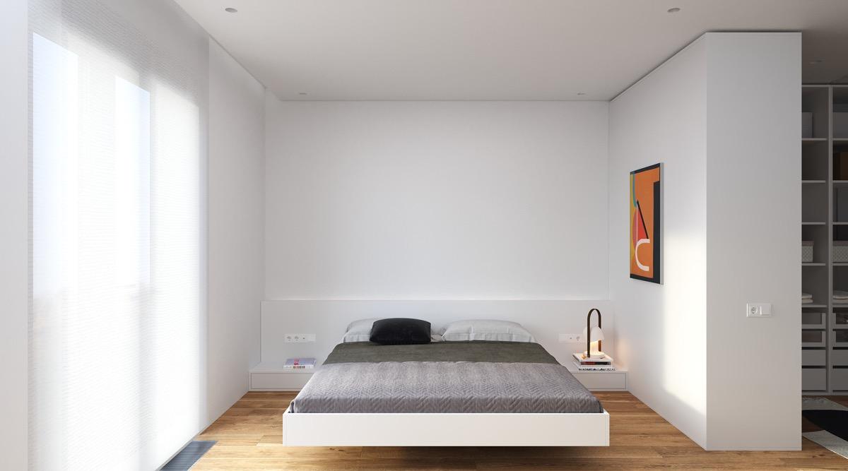 4套纯净舒适的白色小公寓