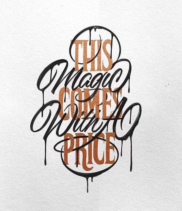 40款国外创意手写字体排版设计
