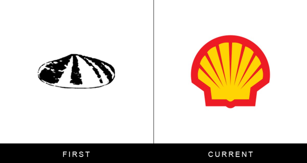 20个著名品牌标志的第一版和当前版