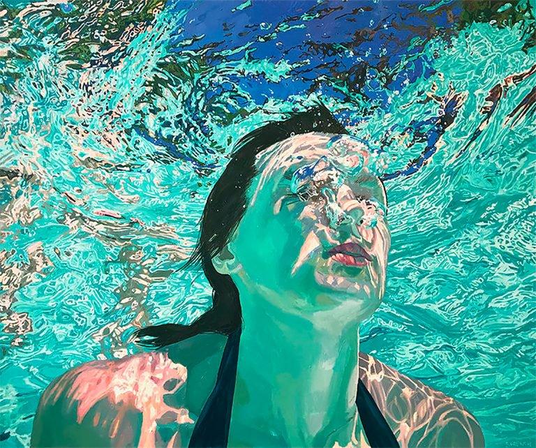 夏天的快乐:samantha french水下油画作品