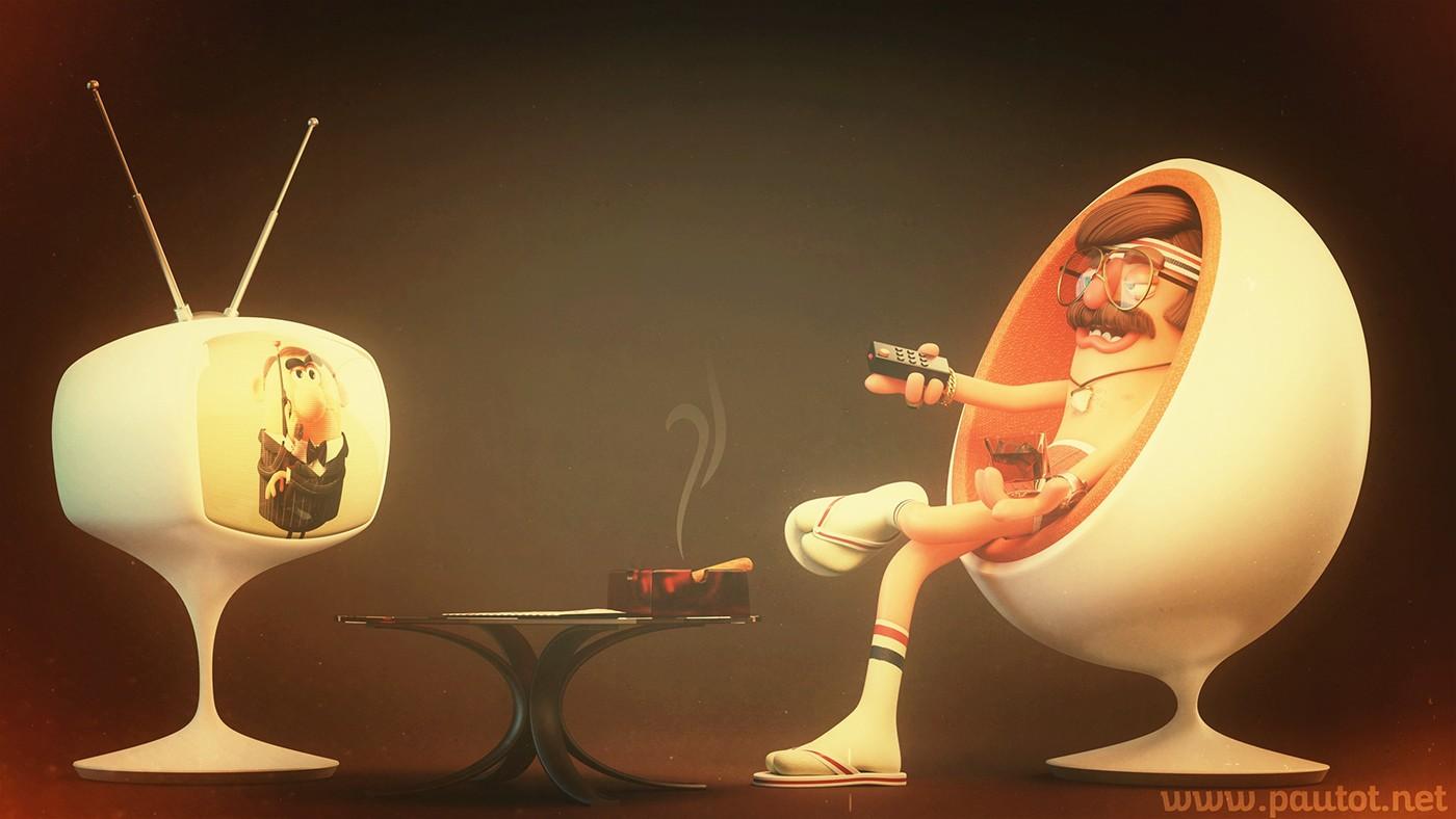 Olivier Pautot卡通3D角色设计