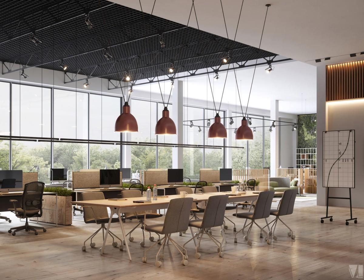 logistics Ltd Co物流公司极简工业风格办公空间