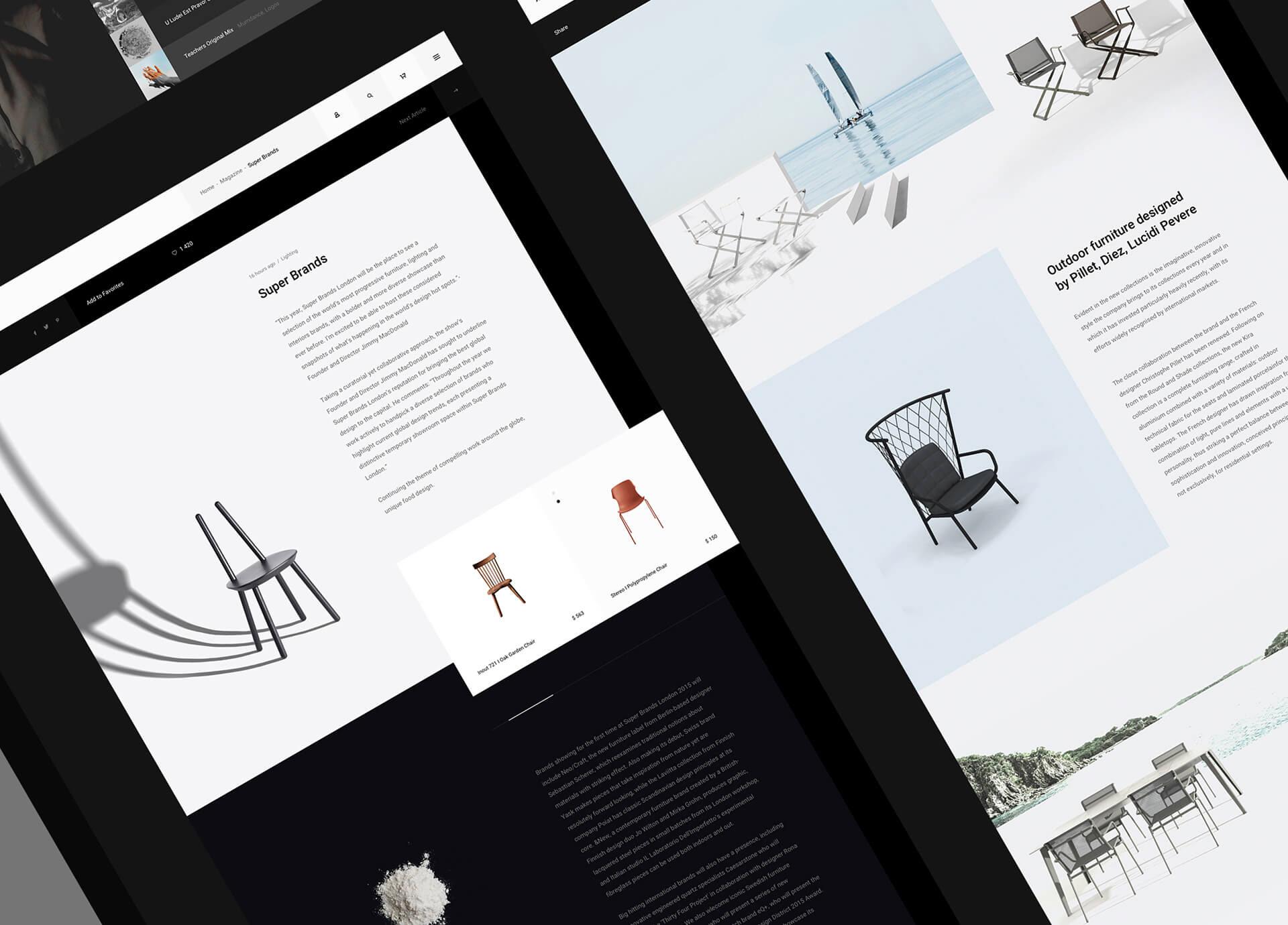 Efir Media网页和UI布局设计