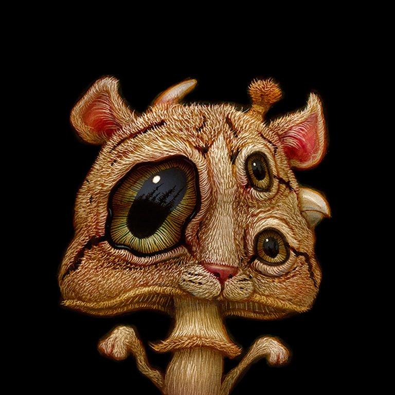 Naoto Hattori奇异古怪动物插画