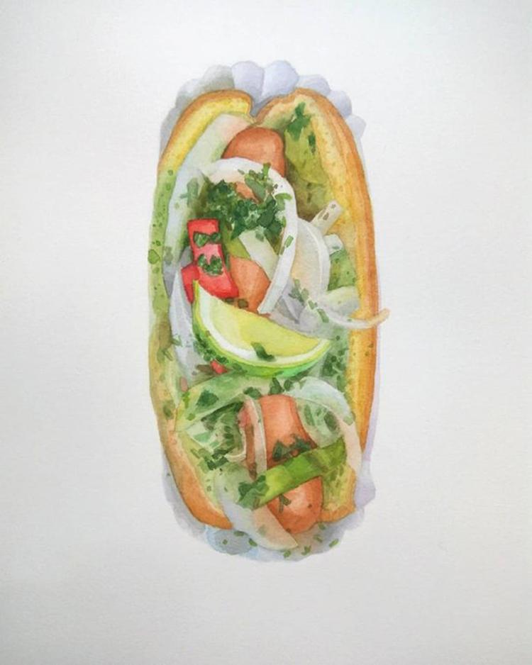 Kseniia Yeromenko甜美食物水彩画作品