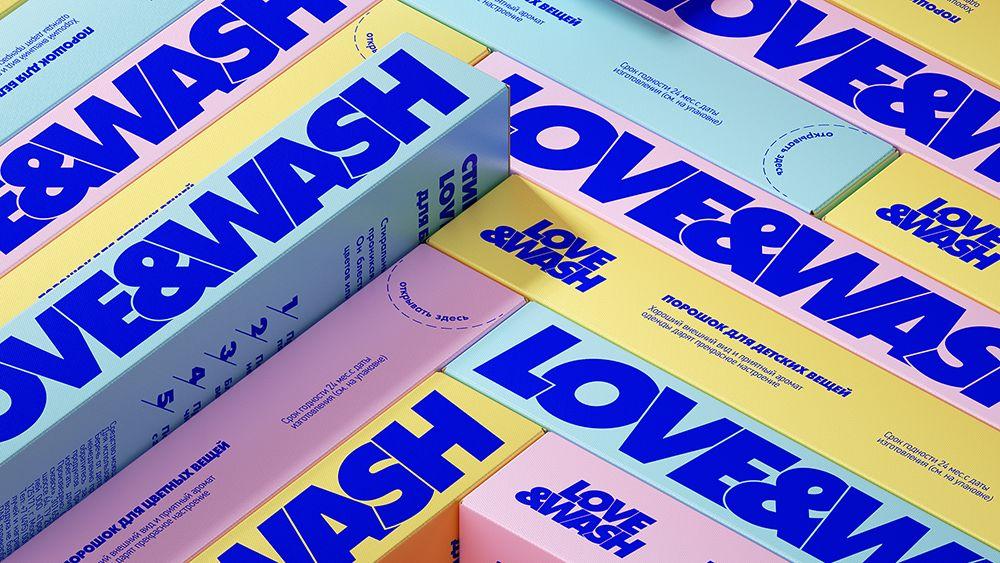 洗衣用品品牌Love&wash包装设计