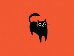 可爱猫咪logo设计欣赏