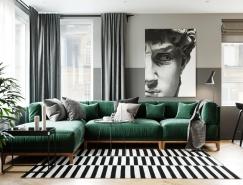 精致的细节和色彩搭配:现代风格两居室公寓设