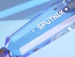 深邃蓝色:Sputnik water纯净水包装设