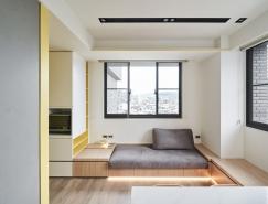 巧妙空间利用:白和黄搭配的小户