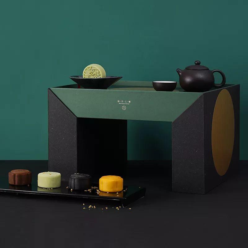 精致的中秋月饼礼盒设计