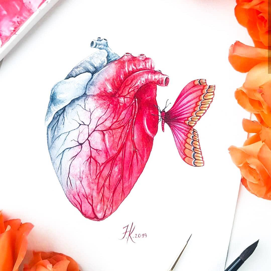 50张漂亮的心脏创意插画
