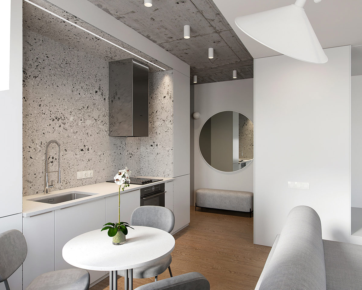两间极简主义风格一居室小公寓空间设计