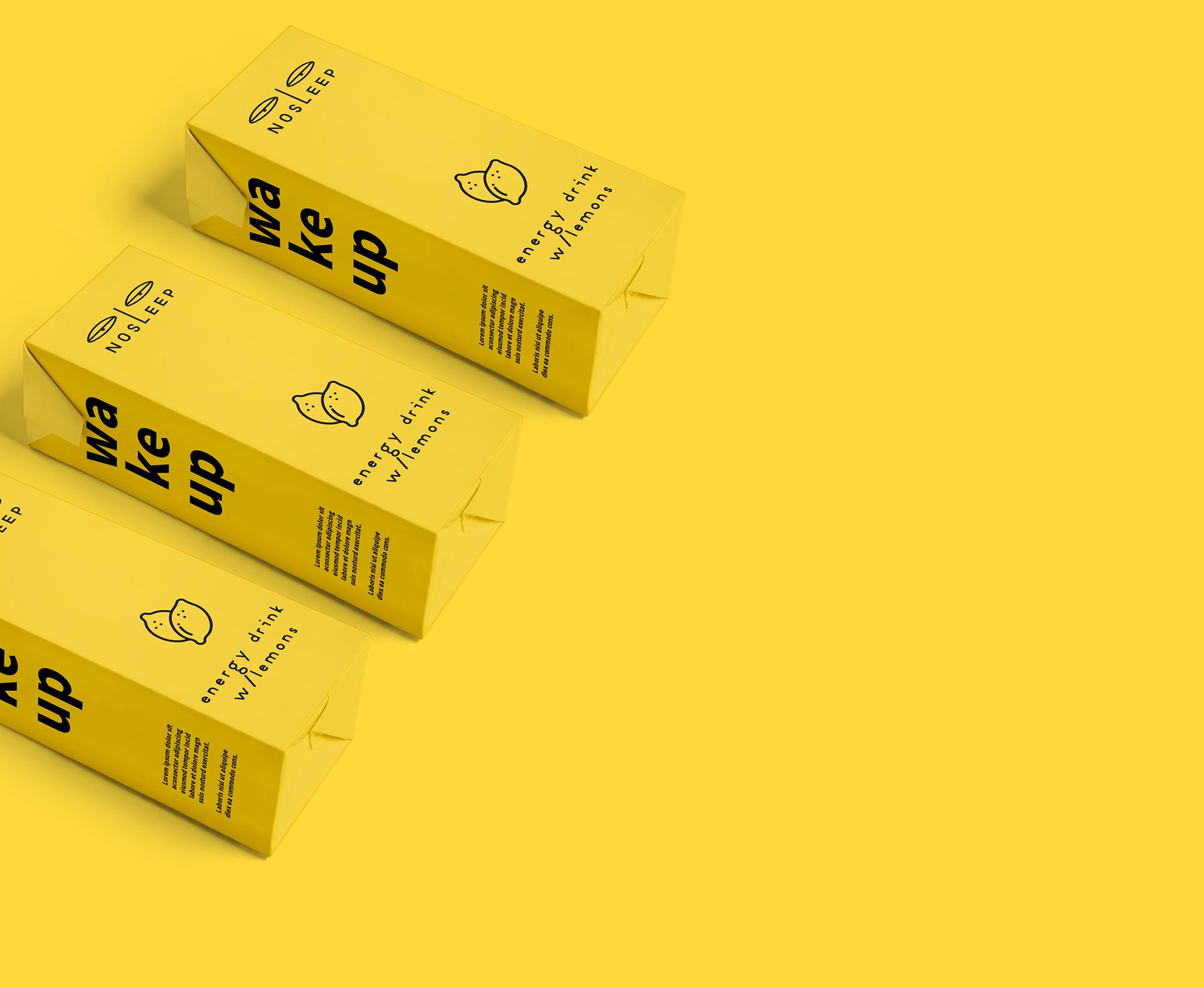 反差表情设计的NOSLEEP能量饮料包装