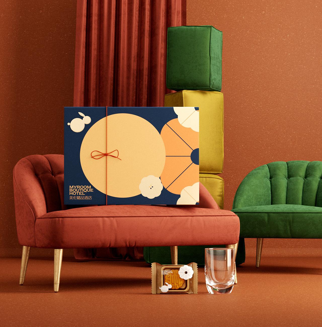 美伦精品酒店月饼礼盒包装设计