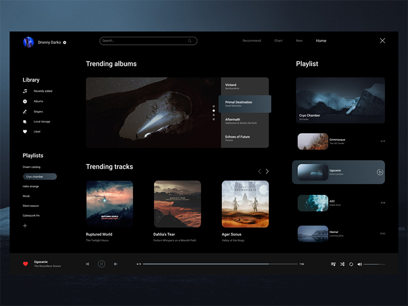 12款网页播放器界面UI设计概念