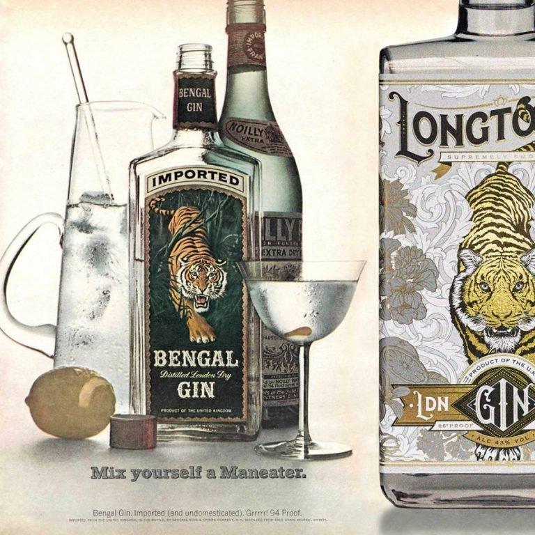 Longtooth杜松子酒品牌和包装设计
