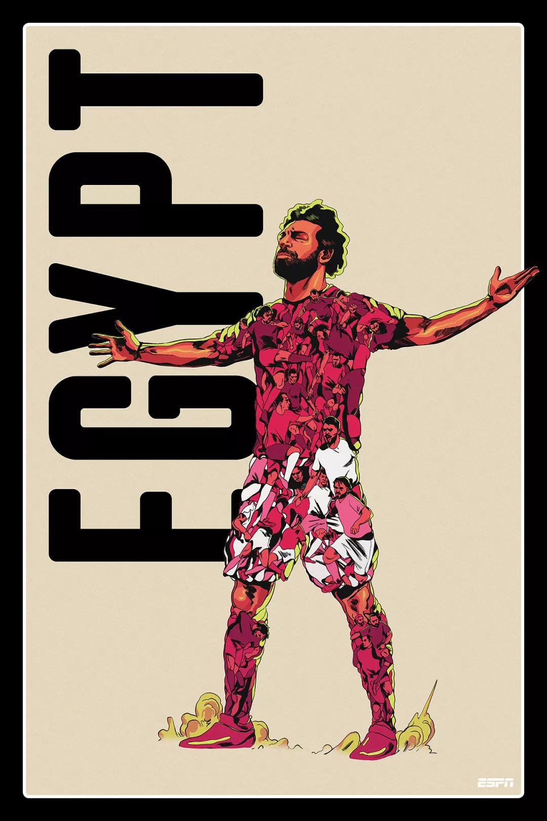 ESPN世界杯插画海报设计
