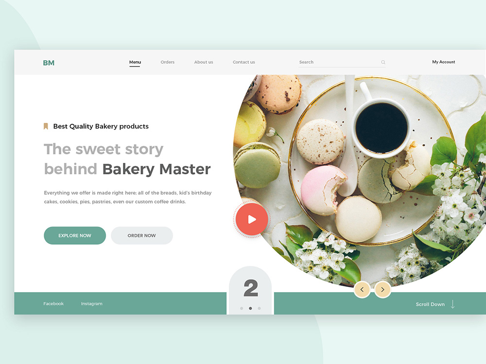 诱人的甜品美食网页设计欣赏