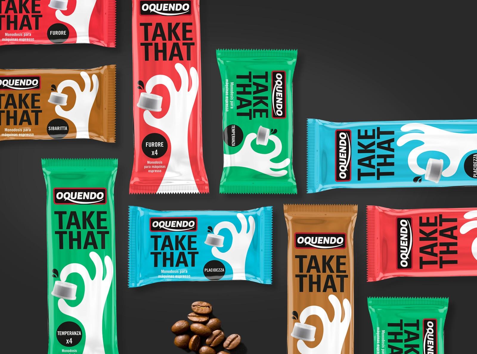 Take That咖啡胶囊包装设计