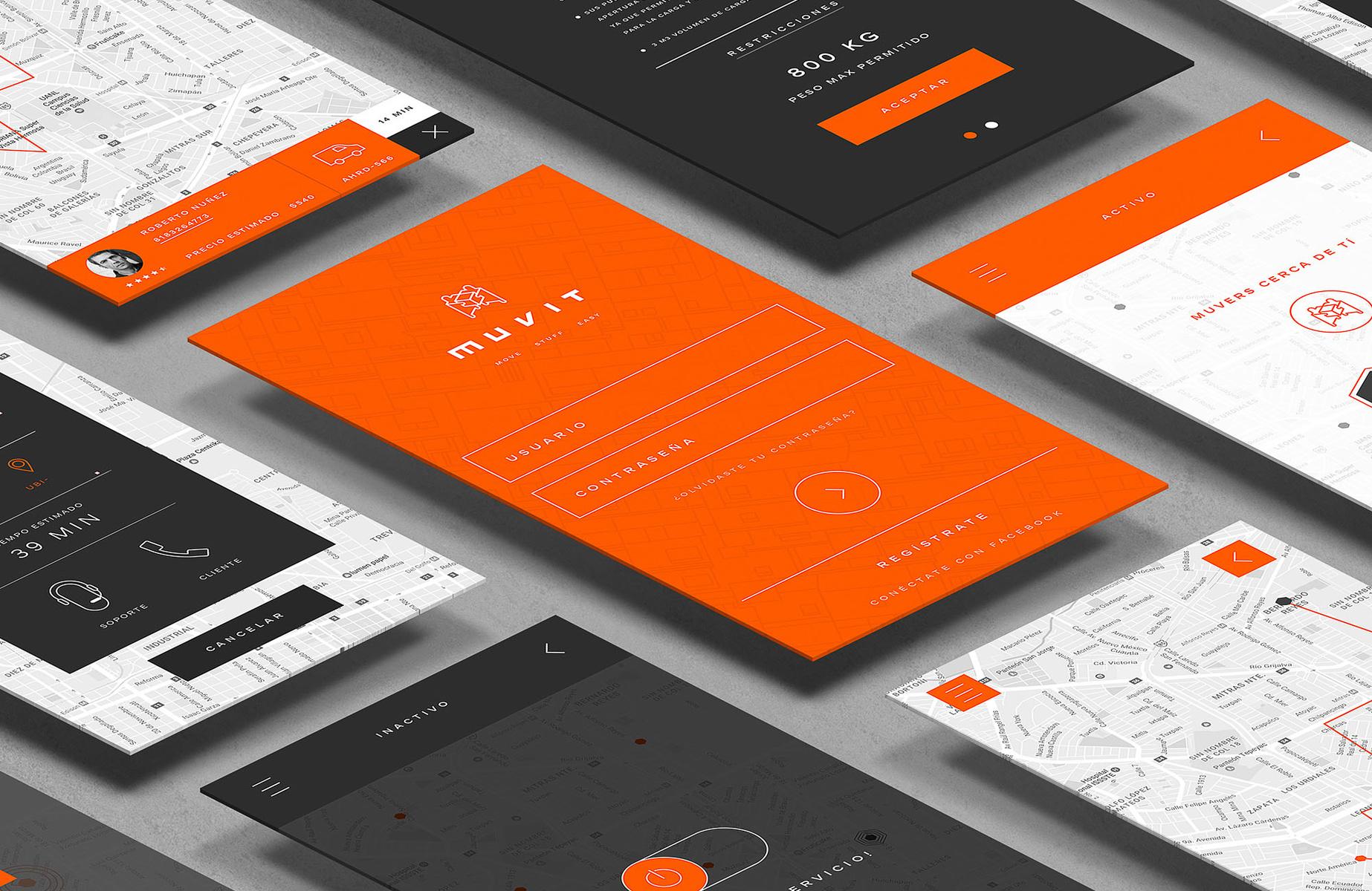 快递品牌Muvit视觉形象设计