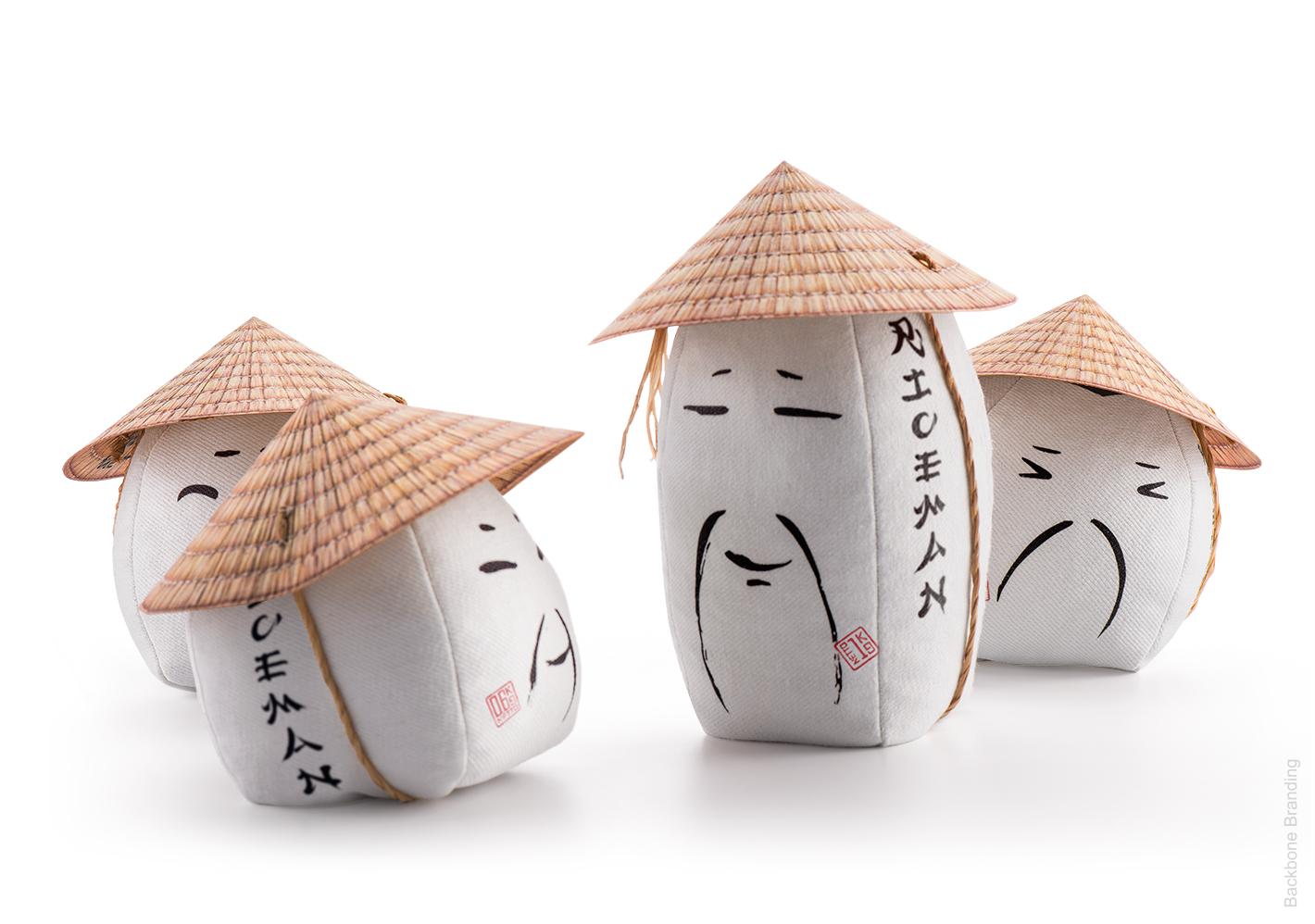 向农民致敬:Riceman大米创意包装袋设计