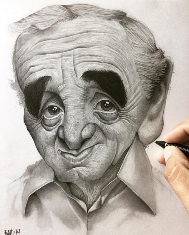 Efrain Malo可爱夸张的明星人物肖像漫画