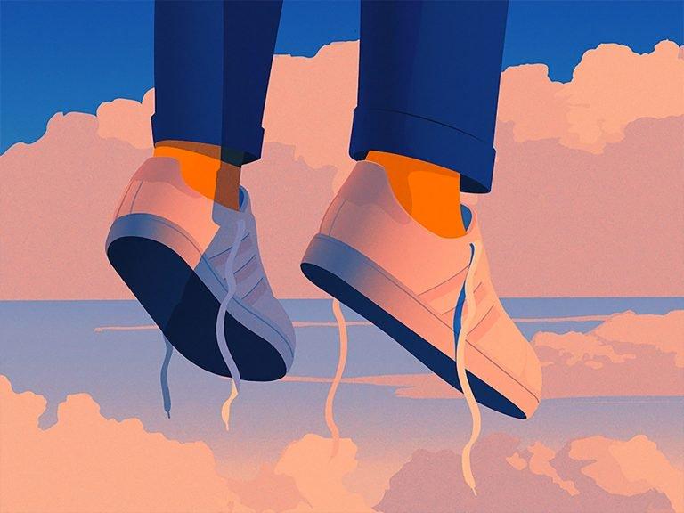 电影镜头感的画面和美妙的粉蓝色调:Marly Gallardo插画作品欣赏