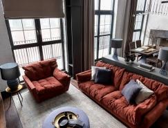 灰色系空间的红色点缀:3个现代家居室内装饰设计