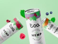 Toa Hemp饮料清新的包装设计