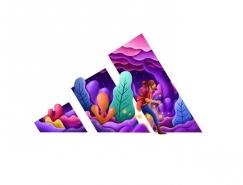 David Huynh以插画风格重新快3彩票官网的著名品牌标识