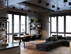 富有品味的工业风格豪华公寓设计