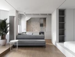 两间极简主义风格一居室小公寓空间w88手机官网平台首页
