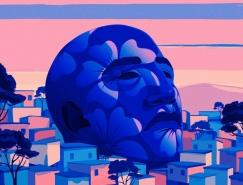 电影镜头感的画面和美妙的粉蓝色调:Marly Gall
