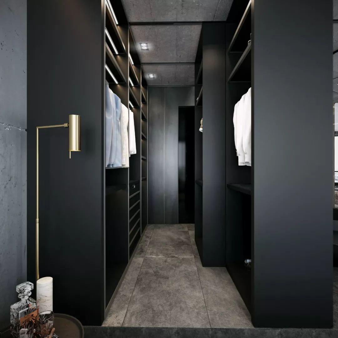 冷酷高级黑:时尚质感公寓设计