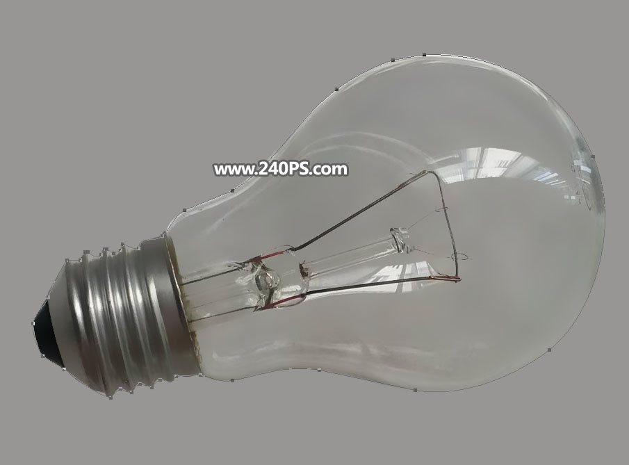 PS抠取透明灯泡ζ 图片教程