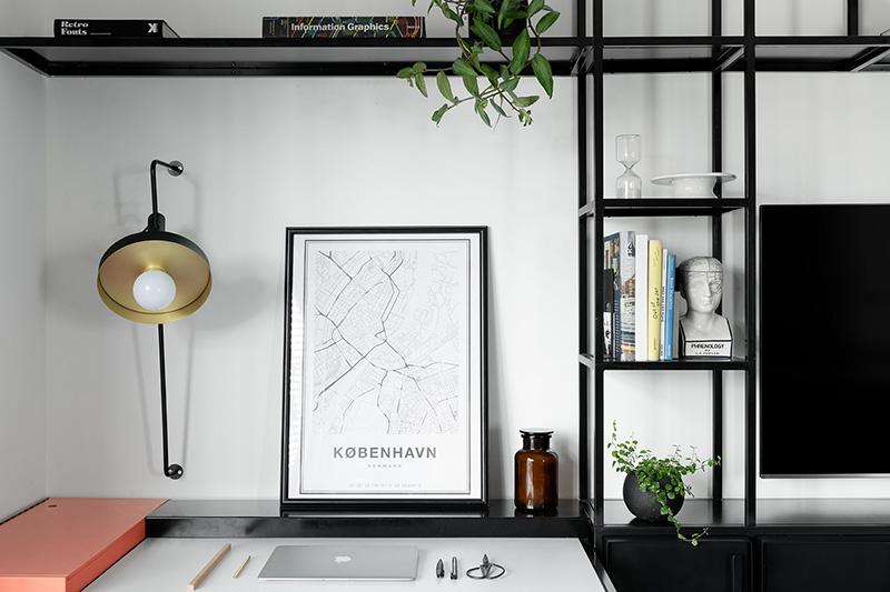 以色列时尚黑白公寓设计