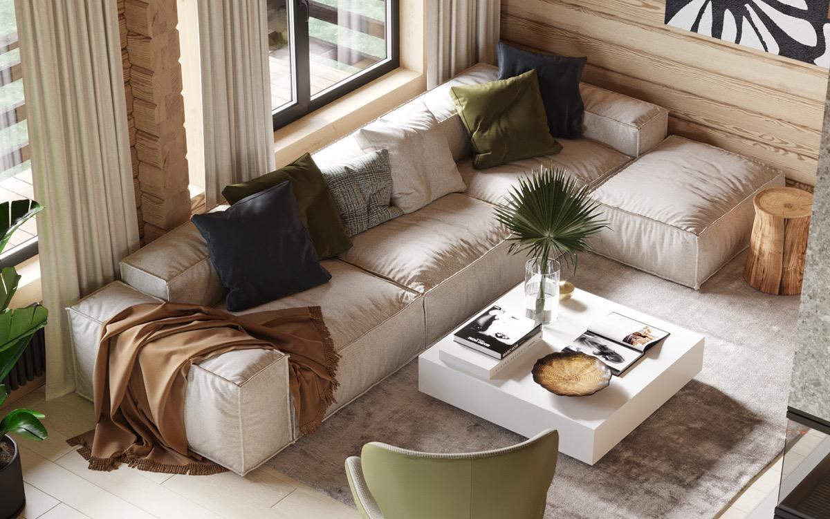 温』暖的木板墙营造出215平舒适的住宅空间