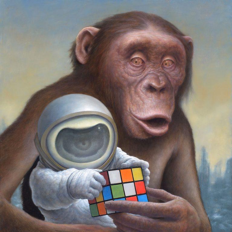 黑猩猩和宇航员:Chris Leib插画作品欣赏