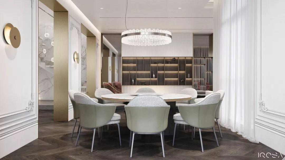 现代简约融合古典元素 基辅复式住宅设计