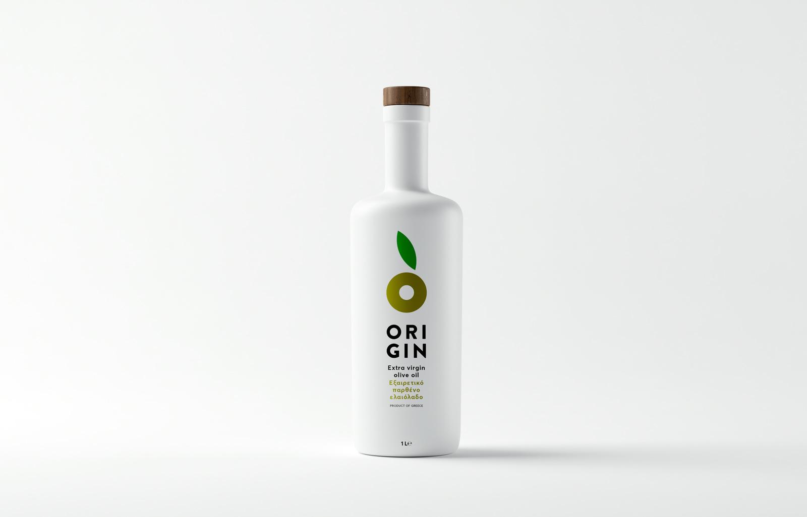 纯白极简的希腊Origin橄榄油包装