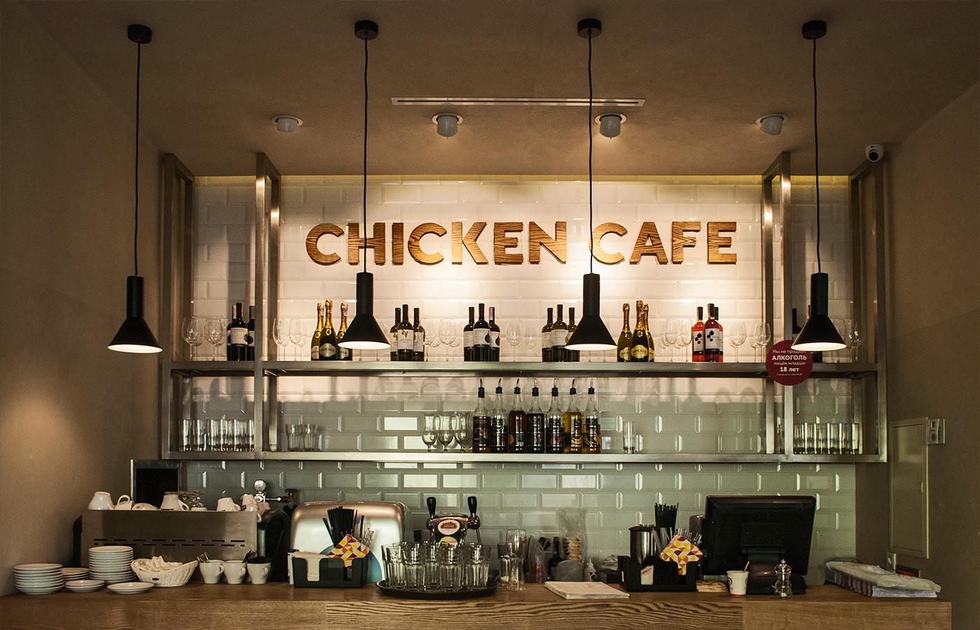 Chicken Cafe炸鸡快餐品牌形象设计