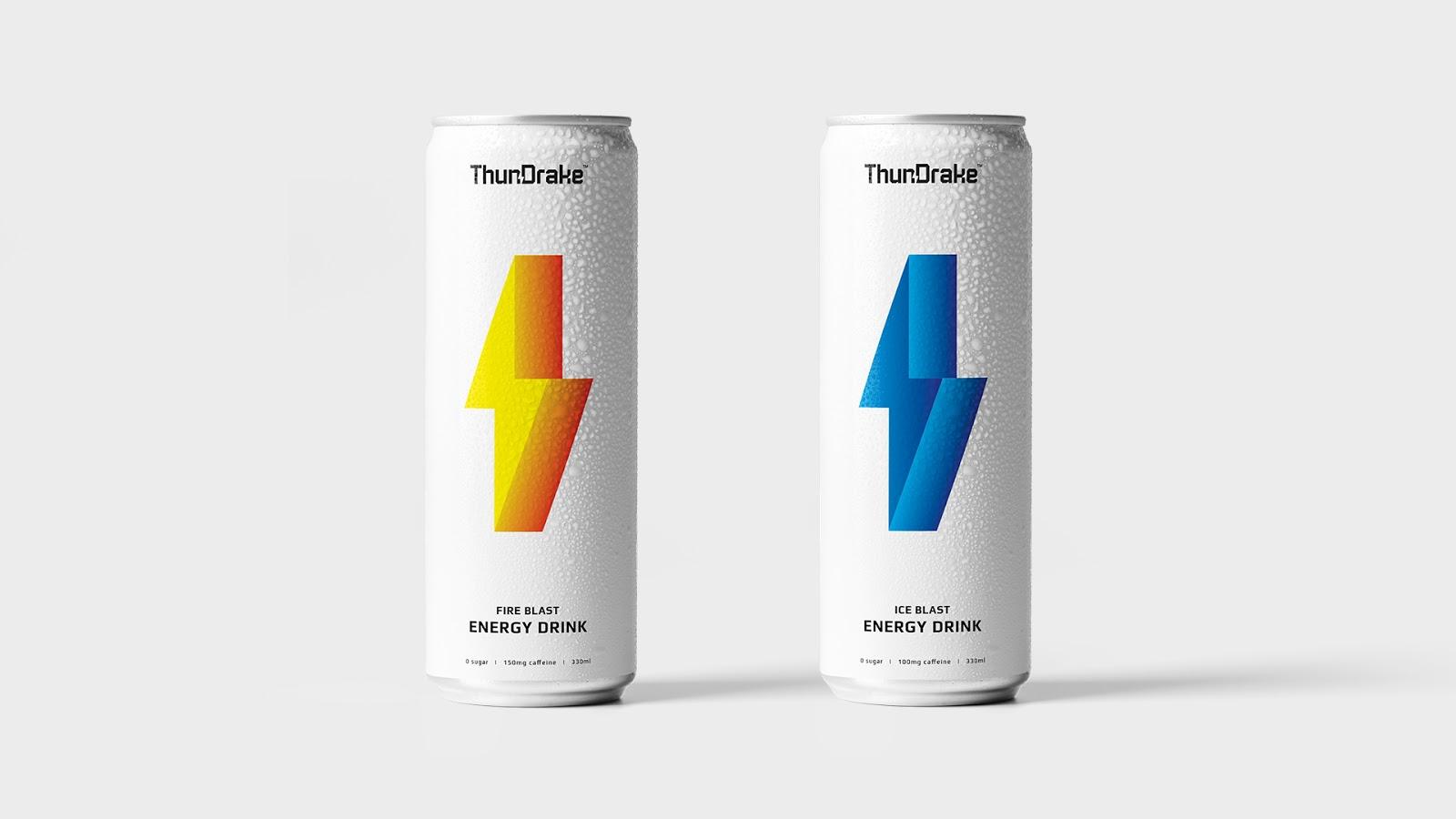 ThunDrake能量饮料概念包装设计