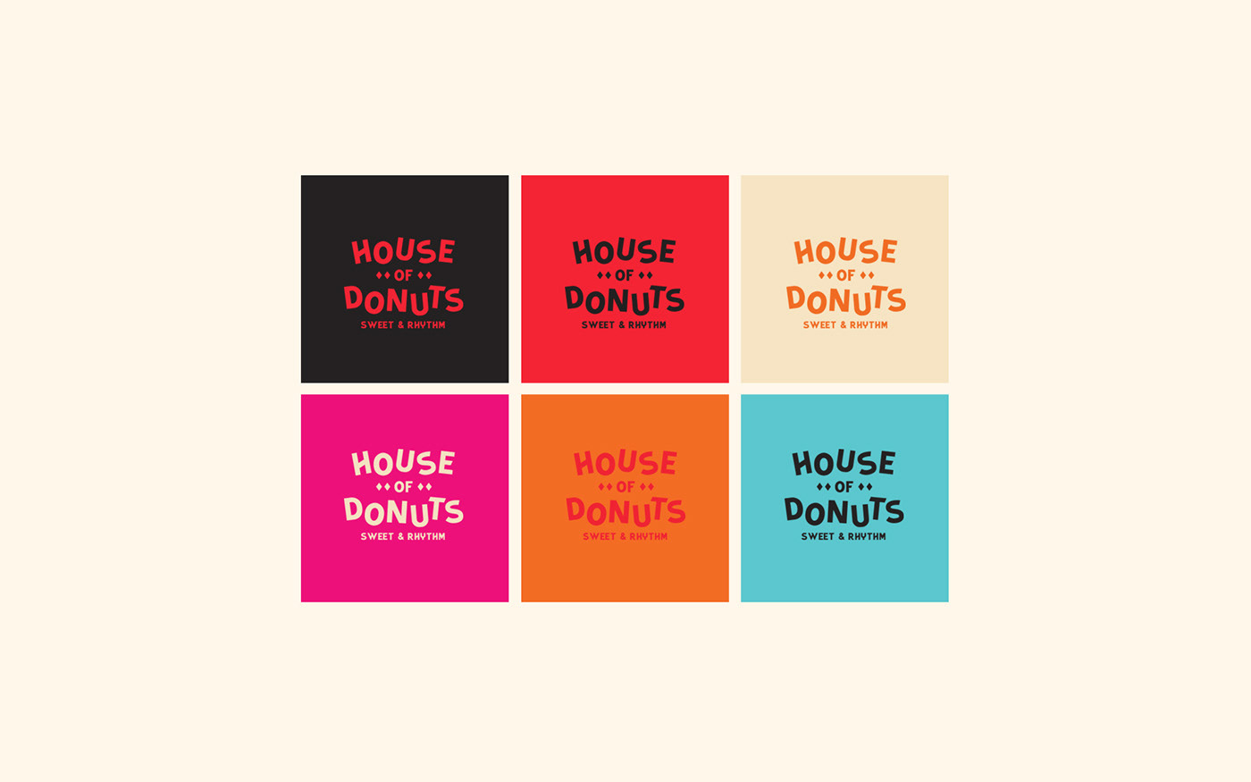 House of Donuts甜甜圈品牌VI设计