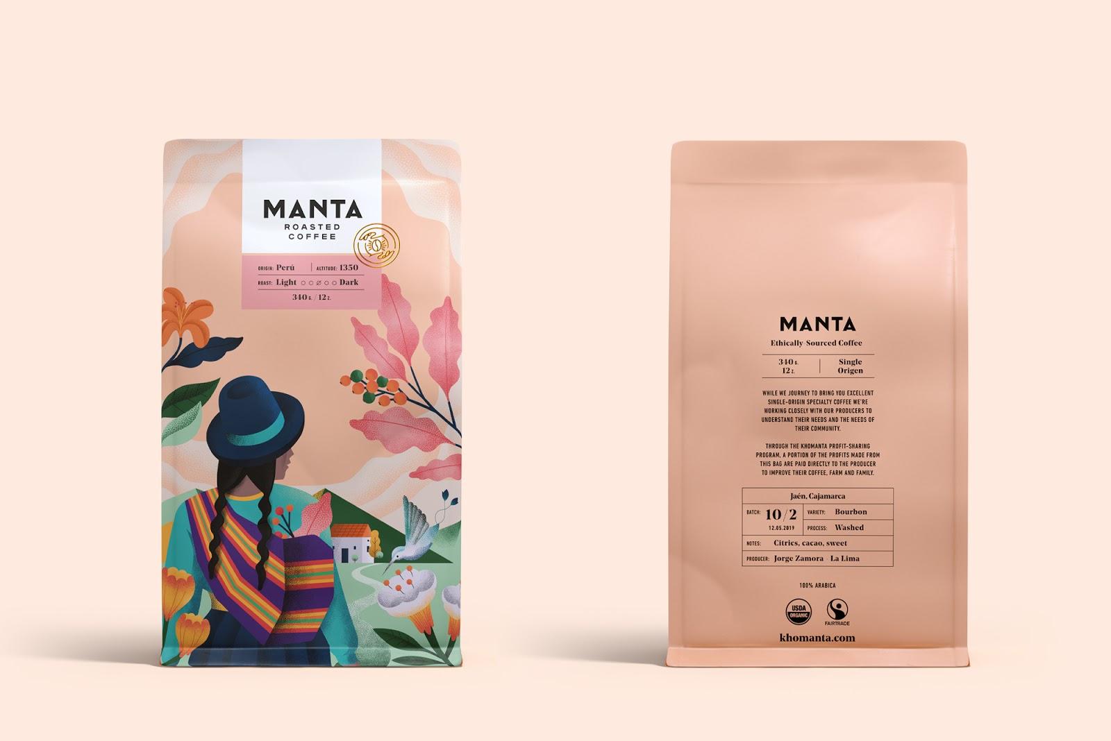 秘鲁风情插画为灵感的Manta咖啡包装365bet官网