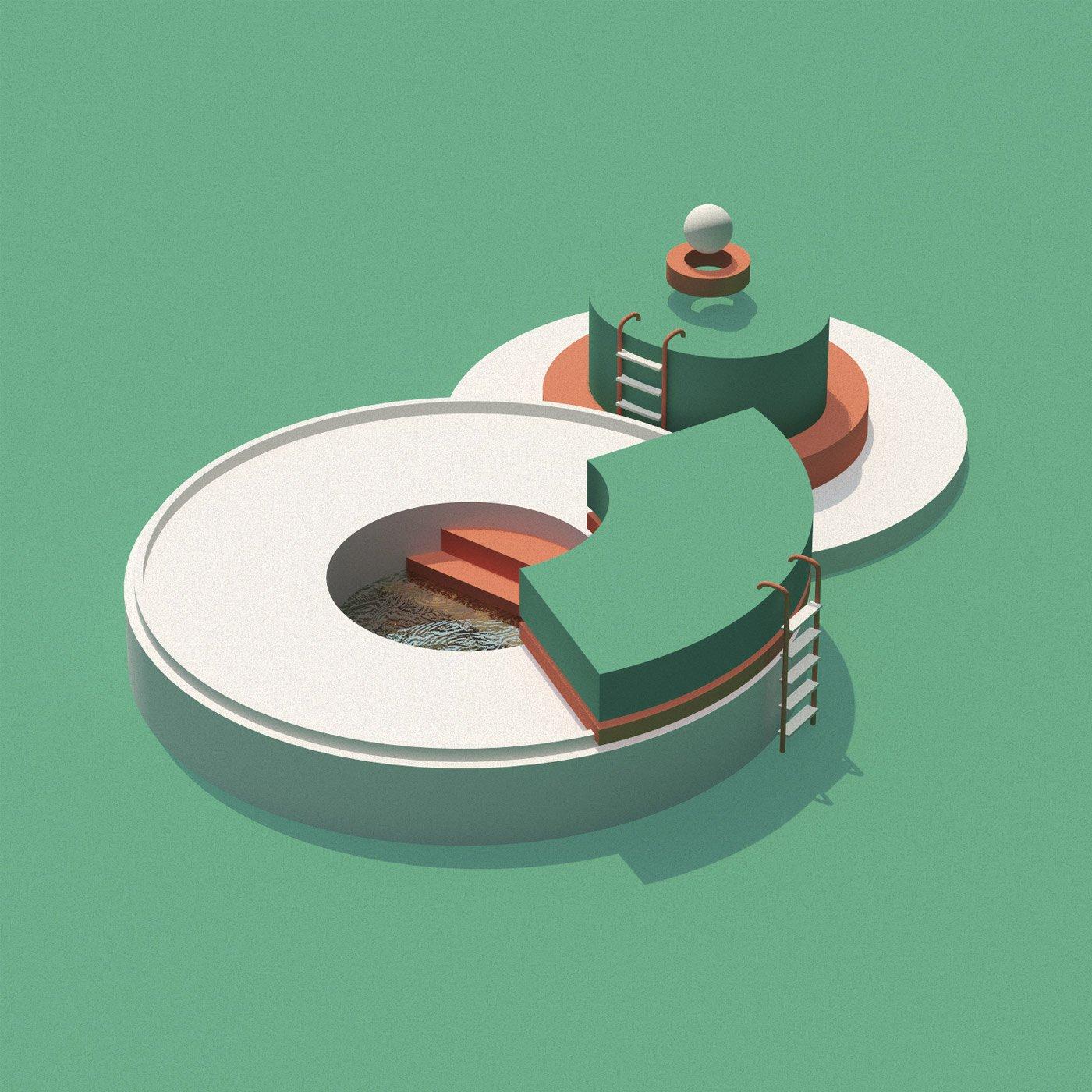 数字建筑:Núria Madrid & Cristian Malagón Garcia插画作品