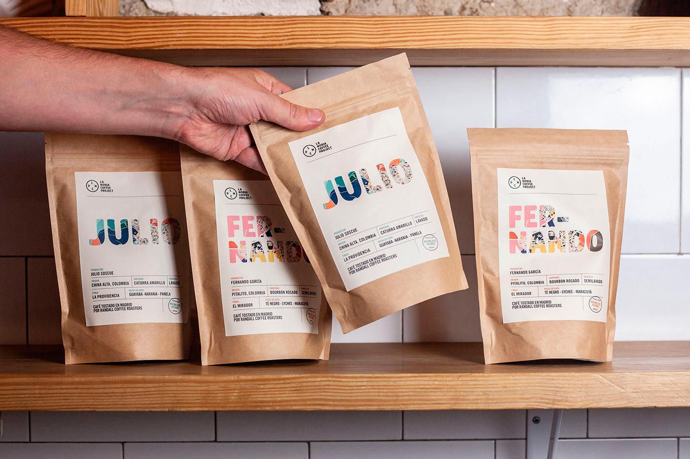 La Noria咖啡品牌和包装设计