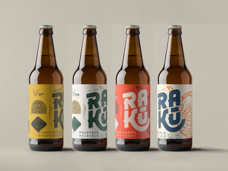 Raku精酿啤酒包装设计