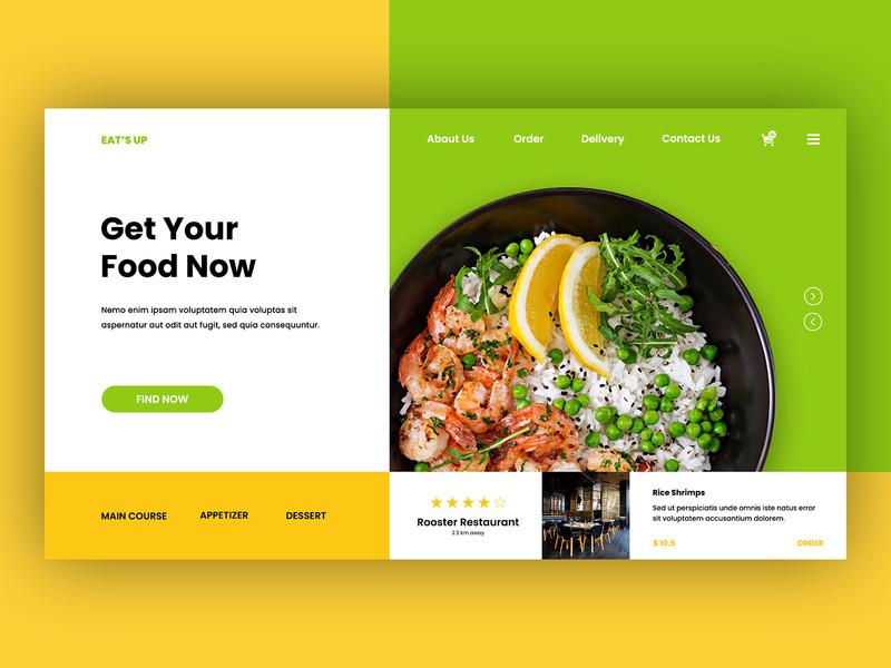 國外極簡風格的美食餐廳網頁設計